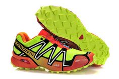 Mens Salomon Speedcross 3 Athletic Running Sports Man Shoes voltgreen black red silver