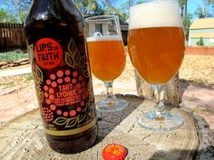 "Lips of Faith Tart Lychee. Tagged as ""the best sour beer."" Must try."