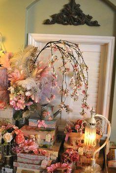 romantisches Arrangement valentinstag-dekoideen blumen kerzen