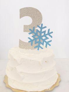 Azul y oro del copo de nieve / congelado / / por CraftandHoney