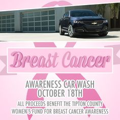 The Breast Cancer Awareness Car Wash is this weekend! 9-2 at Dan Young GM! Come help support this great cause and get something to eat too!