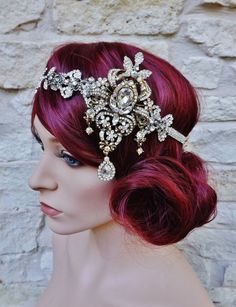the headpiece is lovely, but her hair is brilliant