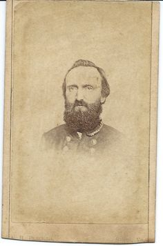 Ultra-Rare original from Life view of Stonewall Jackson from the famous Winchester  views of the Confederate Hero.  There are only several real from life War Date views  of him and this is one of them with a backmark of A H Plecker of Salem Va.  Trimmed  top and bottom from its original album insertion.