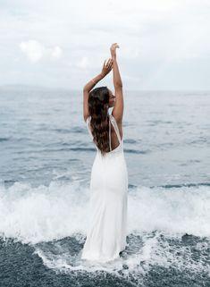 wedding dress, bridal, gowns, bridal Rime Arodaky, Bridal Gowns, Wedding Dresses, Crepe Dress, Parisian, Corset, Campaign, White Dress, Sequins