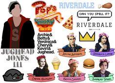 Riverdale sticker sheet Bughead Jughead Jones Archie