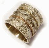 Spinner ring silver gold FREE SHIPPING