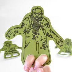 --free Silhouette zombie finger pattern file