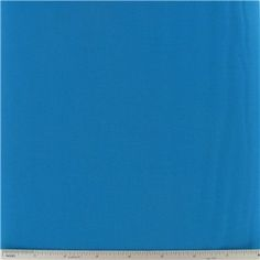 """Turquoise Kona Cotton Fabric is 44"""" wide and 100% cotton.    CARE INSTRUCTIONS - Machine Wash, Warm; Tumble Dry; Remove Promptly.    Available in 1-yard increments. Average bolt size is approximately 15 yards. Price displayed is for 1-yard. Enter the total number of yards you want to order."""