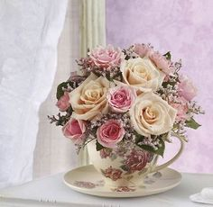 Victorian Teacup Bouquet - Roses - U.S. & Canada - 1st in Flowers!