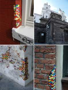 I can not read the web site, but I love how the Legos are built right into the walls.