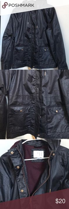 """Target Black Raincoat Black raincoat by Target brand """"A new day"""". In excellent condition. Has pockets on the front. Keeps you warm on rainy spring and fall days target Jackets & Coats"""