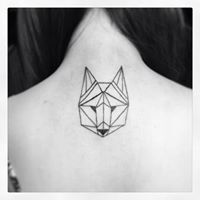 origami wolf tattoo - Google Search