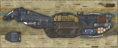 Serenity (Firefly Class vessel) Forward cross section. from Joss Whedon´s Firefly Firefly Ship, Firefly Art, Firefly Images, Firefly Quotes, Serenity Ship, Firefly Serenity, Joss Whedon, Firefly Series, Tv Series