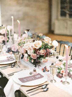 wedding reception simple Berry Colored Wedding Ideas for All Seasons ⋆ Ruffled Mauve Wedding, Floral Wedding, Wedding Colors, Diy Wedding, Wedding Flowers, Wedding Cakes, Wedding Ideas, Parisian Wedding, Elegant Wedding
