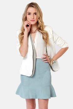 #Lulus                    #Skirt                    #Pressed #Flowers #Light #Blue #Trumpet #Skirt      Pressed Flowers Light Blue Trumpet Skirt                                      http://www.seapai.com/product.aspx?PID=1815941