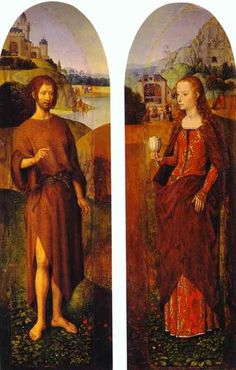 St. John the Baptist and St. Mary Magdalen. Wings of a triptych Artist: Hans Memling Style: Northern Renaissance