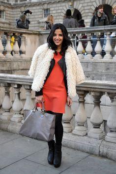 Zahra from Lyla Loves Fashion in a Joseph dress