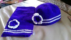 gorrito y bufanda a crochet