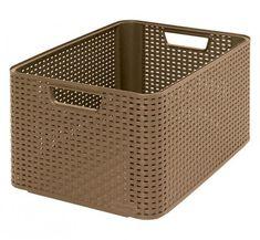 Košík Curver® STYLE L, tmavohnedý, 44x23x33 cm Plastic Laundry Basket, Hamper, Rattan, Modern, Home Decor, Style, Bedroom, Products, Luxury Decor