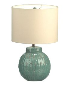 Look what I found on #zulily! Sea Green Table Lamp by Midwest-CBK #zulilyfinds
