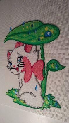 Marie (Aristocats) hama perler beads by Pernille Henriksen
