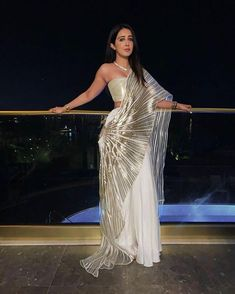Bollywood Celebs Sharing Some Major OTT Cocktail Saree Inspirations - Saree Styles Indian Gowns Dresses, Indian Fashion Dresses, Indian Designer Outfits, Fashion Outfits, Saree Draping Styles, Saree Styles, Saree Designs Party Wear, Cocktail Party Outfit, Designer Party Wear Dresses