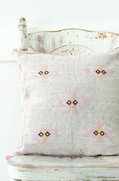 Handmade Moroccan Cactus Silk Pillowcase | HouseofSeance on Etsy