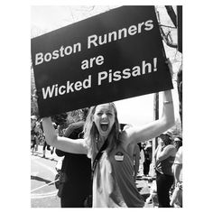 The 42 Best Signs From The Boston Marathon Marathon Signs, Boston Strong, Boston Marathon, Run Happy, New England, Vancouver, Maine, Instagram Posts, Yup