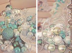 Silver and aqua Christmas