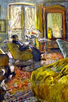 Edouard Vuillard - Interior with Woman Reading, 1912