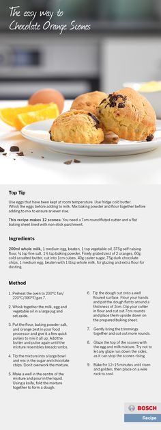 The easy way to Chocolate Orange Scones