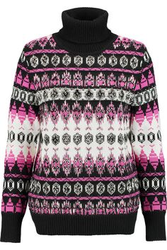 Emilio PucciEmbellished intarsia-knit wool turtleneck sweater
