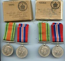 WW2 Medals to Husband and Wife J & C.A Page of Wolverhampton ATS & RN