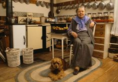 One of my favorite kitchens.  Marguerite Yourcenar in her kitchen at Petite Plaisance in Northeast Harbor, Maine