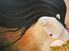 pintura en acrílico, viento. colores naranjas pintura en acrílico acrílico  lienzo  pintura pintado a mano  textil