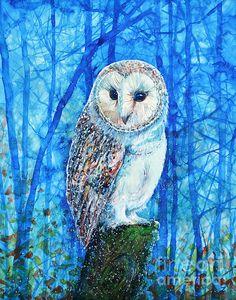 'Barn Owl' by Zaira Dzhaubaeva