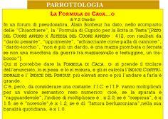 piṅgapā: Parrottologia. ▬ La Formula di Caca...o