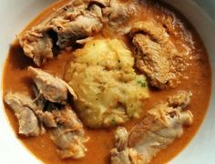 brought up in Ghana, the first thing he HAD to have was peanut soup and fufu* MINE **** added 2 other Peanut butter soups to this Fufu Recipe Ghana, Fufu Soup Recipe, Ghanaian Food, Nigerian Food, All You Need Is, Soup Recipes, Cooking Recipes, Chicken Recipes, Vegan Recipes