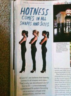 And all of those sizes are thin, apparently, and look pretty much the same.