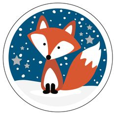 THE LITTLE FOX // designed by Elise Tolk, all rights reserved by DEPOT Fox Drawing Easy, Easy Drawings, Fuchs Illustration, Cute Illustration, Fox Painting, Painting For Kids, Christmas Drawing, Christmas Art, Fox Crafts