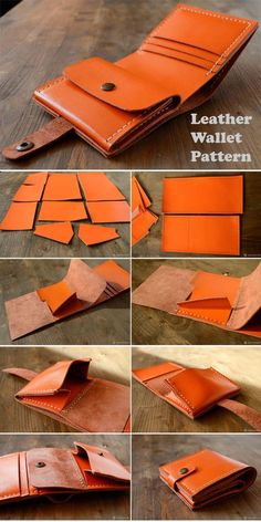 Free Bag Sewing Patterns & Tutorials Leather Wallet Tutorial ~ How to sew free tutorial for beginners. Ideas for sewing projects. Sewing Hacks, Sewing Tutorials, Sewing Tips, Sewing Patterns Free, Free Sewing, Free Pattern, Crea Cuir, Bag Sewing, Wallet Sewing Pattern