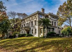 1895 Mansion In Saint Louis Missouri Floor To Ceiling Bookshelves, Cathedral Basilica, Patio Gazebo, Terrazzo Flooring, St Louis Mo, Mansions For Sale, Grand Staircase, Victorian Homes, Old Houses