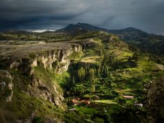 I absolutely love this picture because of the way the sun is shining in the valley, but the clouds are overhead. This happens often in Cuenca.
