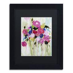 """Trademark Art """"Mi Amor"""" by Carrie Schmitt Framed Painting Print Size: 14"""" H x 11"""" W x 0.5"""" D"""