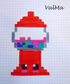 Dessin Pixel Art Facile Fille