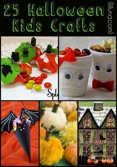 25+ Halloween Kids Crafts - lots of ideas for perfect Halloween fun with the kids! { lilluna.com }