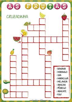 As frutas, Projeto frutas, cruzadinha, caça-palavras,