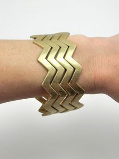 Matte Gold Chevron Bracelets - $23.00 : FashionCupcake, Designer Clothing, Accessories, and Gifts