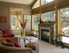 Sunrooms With Wood Fireplaces   Inside Outside Fireplace Design Ideas, Pictures, Remodel, and Decor