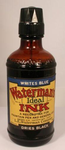 Waterman-Ink-Bottle-16-oz-v0544-USA-Vintage-Fountain-Pen-Ink-Bottles
